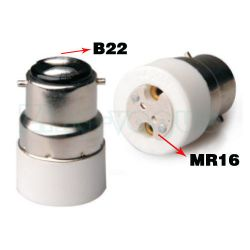 B22 to MR16 Lamp Holder Adapter