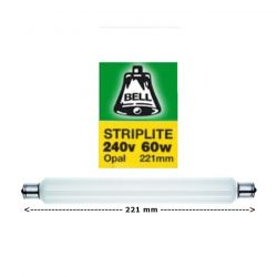 BELL 02100 - 221mm 60W S15 Double Ended Opal Striplite Tube