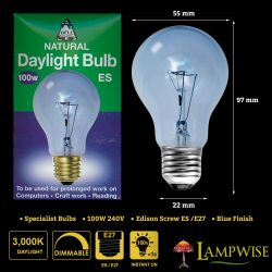 Bell 100w 240v ES/E27 Gls Dimmable Daylight Light Bulb
