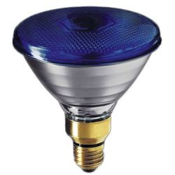 BELL 03130 80W 240V ES/E27 PAR38 Incandescent Blue Reflector Lamp