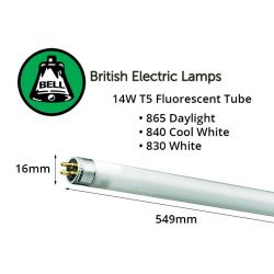 Bell 14w T5 Fluorescent H/E Tube 549mm White 3,500k