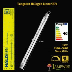 BLV 78mm 240V 250W Halogen Linear R7s Floodlight Lamp