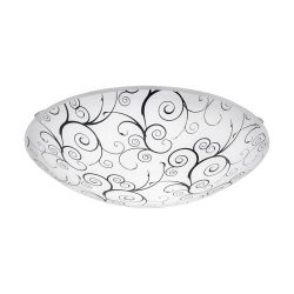 Eglo 96117 MARGITTA 1 White Black Glass LED Flush Fitting