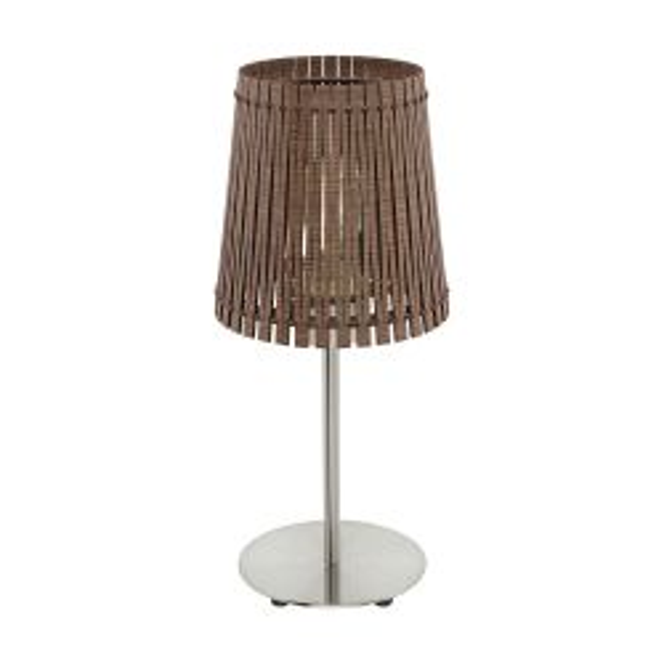 Eglo 96203 SENDERO Satin Nickel One Light Table Lamp