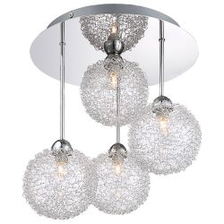Globo 5662-4D 4 Light Chrome Hanging Ceiling Fitting