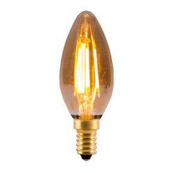 BELL 01433 4W LED Vintage Candle - SES, Amber, 2000K - Warm White