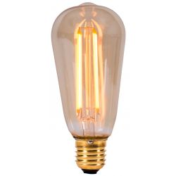 BELL 01469 4W LED Vintage Squirrel Cage ST64 - ES E27, Amber, Extra Warm White