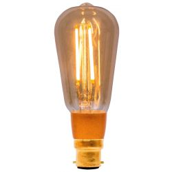 BELL 01468 - 4W Pro LED Vintage Squirrel Cage - BC B22, Amber, 2000K