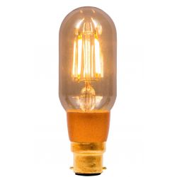 BELL 01500 4W LED Vintage Tubular Dimmable - BC, Amber, 2000K - Warm White