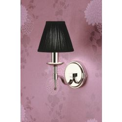 Interiors 1900 CA1BSHN-CA1W1N New Classics Stanford Nickel Single Wall Light & Black Shade