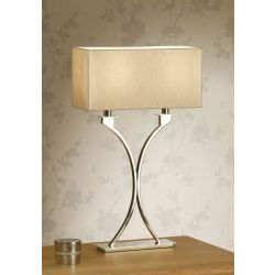 Interiors 1900 MC1TSH-MC1TBS New Classics Vienna Table Lamp & Beige Shade