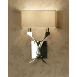 Interiors 1900 MC1WSH-MC1WBS New Classics Vienna Twin Wall Light & Beige Shade
