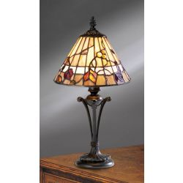 Interiors 1900 TG62SHS-TB10S Tiffany Bernwood Small Table Lamp