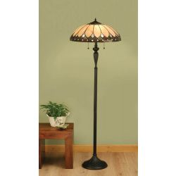 Interiors 1900 T048SH50-DK1F Tiffany Brooklyn Floor Lamp