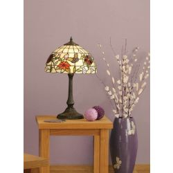 Interiors 1900 TV158S-DB405M Tiffany Butterfly Small Table Lamp