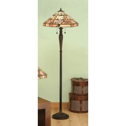 Interiors 1900 T047SH50-T046FB Tiffany Clematis Floor Lamp