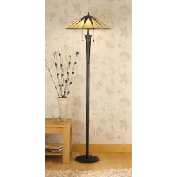 Interiors 1900 TG08SH-TG08FB Tiffany Dark Star Floor Lamp