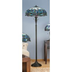 Interiors 1900 T009SH50-DK1F Tiffany Dragonfly Blue Floor Lamp