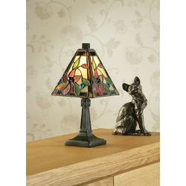 Interiors 1900 TG103SHMIN-TB17MIN Tiffany Lelani Mini Table Lamp