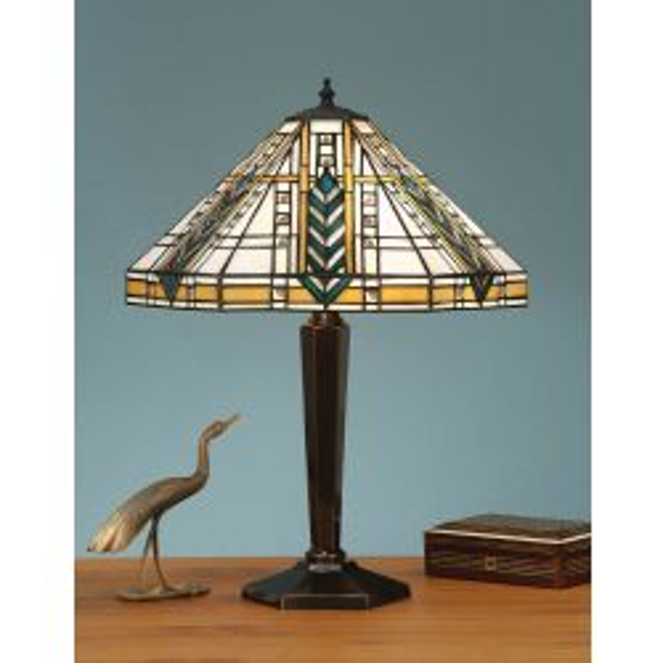 Interiors 1900 T044SH40-BR133M Tiffany Lloyd Medium Table Lamp