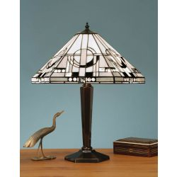 Interiors 1900 TM25M-BR133M Tiffany Metropolitan Medium Table Lamp
