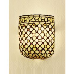 Interiors 1900 TO21W-WF1 Tiffany Mille Feux Wall Light