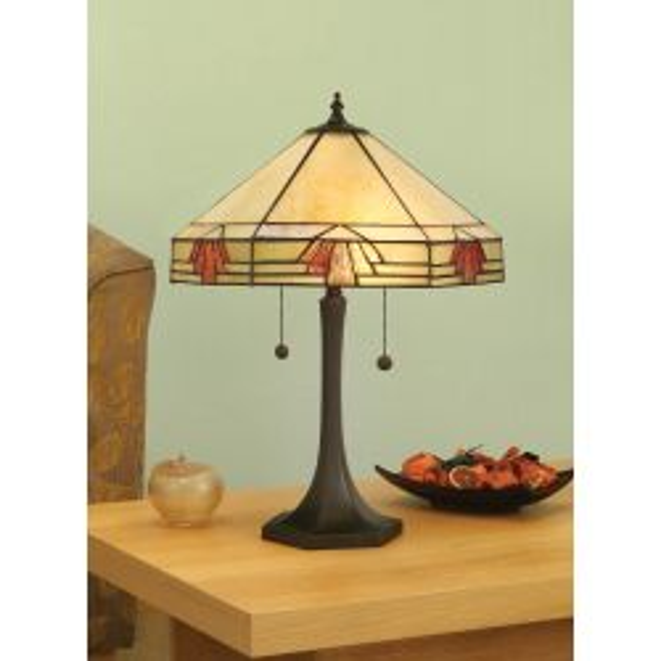 Interiors 1900 TM16/L-DB575M Tiffany Nevada Medium Table Lamp