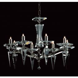 Impex Lighting STH06030/08/N Monza 8 Light Nickel Pendant Ceiling Light