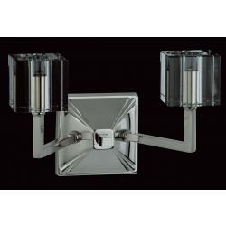 Impex Lighting STH06040/02/WB/N Cube 2 Light Nickel Single Wall Light