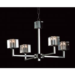 Impex Lighting STH06040/04/N Cube 4 Light Nickel Pendant Ceiling Light