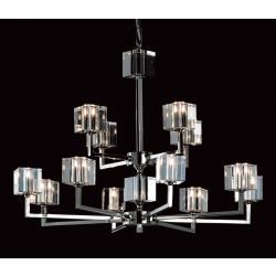 Impex Lighting STH06040/8+4/N Cube 12 Light Nickel Pendant Ceiling Light