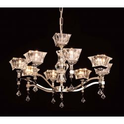 Impex Lighting STH06050/08/G Bresica 8 Light Gold Pendant Ceiling Light