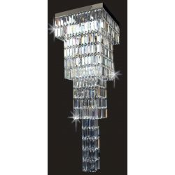 Impex Lighting STLED508121/40/04/CH Crystal Art 4 Light Crystal chrome Chandeliers Ceiling Light