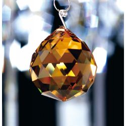 Diyas C10033 Crystal Sphere Amber Without Ring 30mm