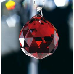 Diyas C10035 Crystal Sphere Red Without Ring 30mm