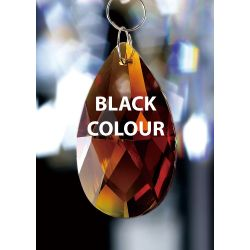 Diyas C20052 Crystal Pendalogue Black Without Ring 50mm