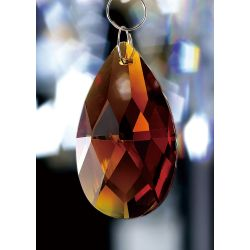 Diyas C20053 Crystal Pendalogue Amber Without Ring 50mm