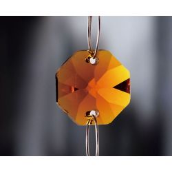 Diyas C50003 Crystal Octagon Amber Without Ring 14mm