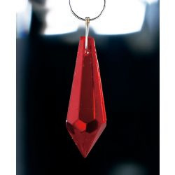 Diyas C70055 Crystal Droplet Red Without Ring 36mm