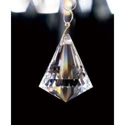 Diyas C70099 Crystal Droplet Clear Pyramid Without Ring 30mm