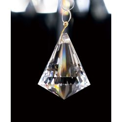 Diyas C70100 Crystal Droplet Clear Pyramid Without Ring 42mm