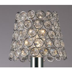 Diyas ILS10701 Crystal Ring Shade Polished Chrome Clip On