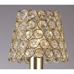 Diyas ILS10702 Crystal Ring Shade French Gold Clip On