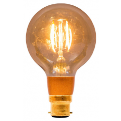 BELL 01473 4W LED Vintage Globe Dimmable - BC, Amber, 2000K - Warm White