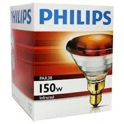 Philips 150W 230V ES E27 PAR38E Red Infrared Reflector Lamp