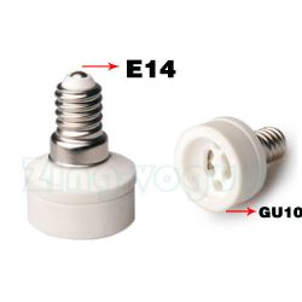 E14 to GU10 Lamp Holder Adapter