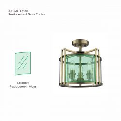 Eaton Clear Replacement Glass For IL31080 / 31090