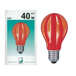 EGLO 85938 40W 240V ES E27 GLS Red Orange Vertical Coloured Painted Light Bulb