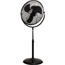 """Prem-I-Air 20"""" (50 cm) High Velocity Stand Black Fan with 360° Head"""