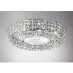 Diyas IL31201 Enya Polished Chrome/Crystal 6 Light Flush Ceiling Light